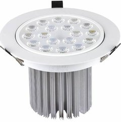 Kit C/9 Spot Led Downlight 18w Branco Frio Redondo Marca Ctb na internet