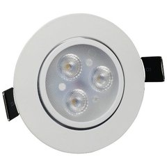 Kit C/5 Spot Downlight Led 3w Luz Branco Frio Marca Maxtel