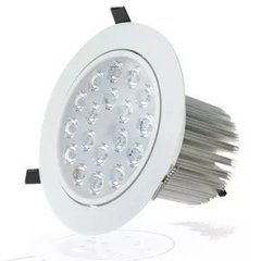 Kit C/9 Spot Led Downlight 18w Branco Frio Redondo Marca Ctb