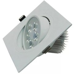 Kit C/10 Spots Downlight Quadrado Led 5w Branco Quente Ctb na internet