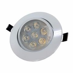 Kit C/10 Spots Downlight Led 7w Branco Quente Marca Ctb