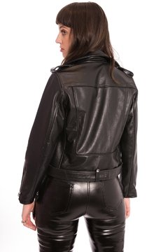 Jaqueta Biker Eletric Western - Tabacco and Leather