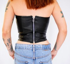 Biker Bustier - Tabacco and Leather