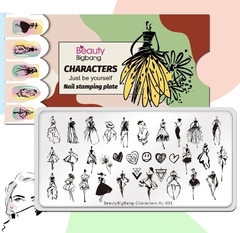 Placa Beauty big bang Characters XL-001