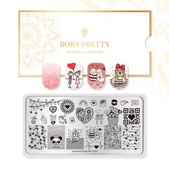 Placa Born Pretty  Valentine 04