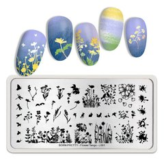 Placa Born Pretty  Flowers Tango L001