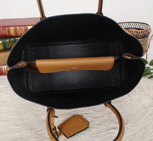 Bolsa Saffiano Double Tote Caramelo - couro legítimo Premium 64bde6c45f