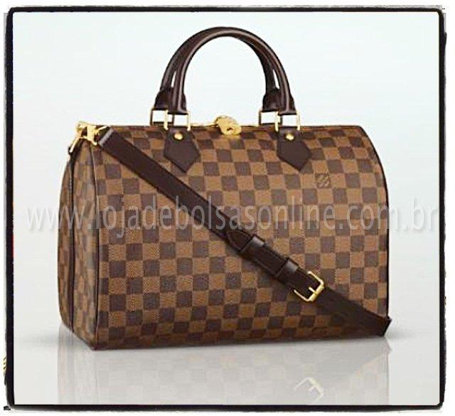 8ee2a633f Louis Vuit Speedy Bandouliére 35 Damier Ebene - couro Premium