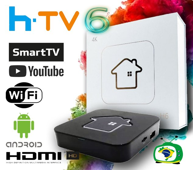 HTV BOX 6 Receptor HTV BOX 5 - Full HD Wifi Sem Antena