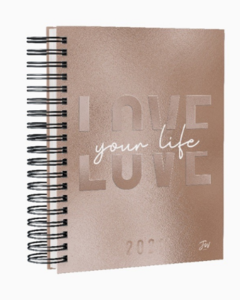 Agenda Diaria FW Trend Travel Love rose gold