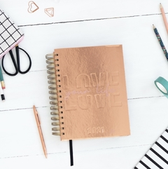 Agenda Diaria FW Trend Travel Love rose gold - comprar online