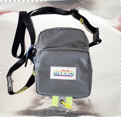 Shoulder Bag 001 nylon rubber cinza