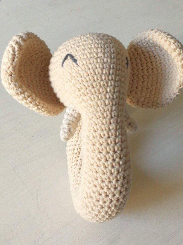 Patrón Amigurumi Sonajero Elefante | 855x640