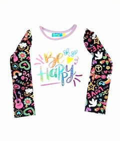 remera nena be happy