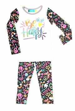 remera be happy + calza juego PROMO !!!