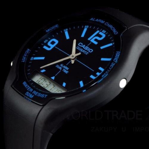 2ec5f7741fa4 Reloj Casio Aw-90h Cronografo 50m Wr Alarmas Doble Hora Gtia