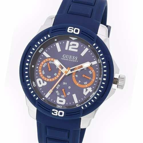W0967g2 Acero Reloj 10 Atm Multifunción Silicona Guess nwkXO08P