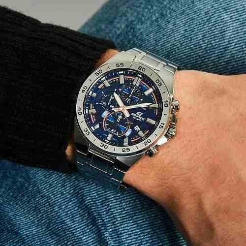 de5db0ea7736 Reloj Casio Edifice Efr-564d 2a Crono Fecha 100% Acero