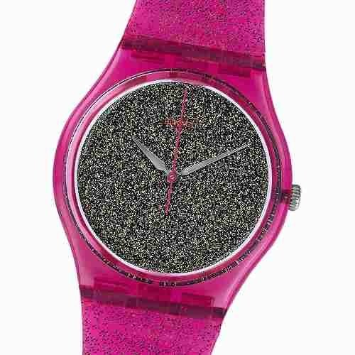 Reloj Swatch Gp149 Nuit Rose 100% Suizo Animal Print