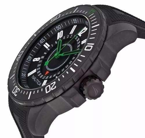 83cef30a0e7c Reloj Nautica A15640g Black Rubber 100m Carcasa Empavonada