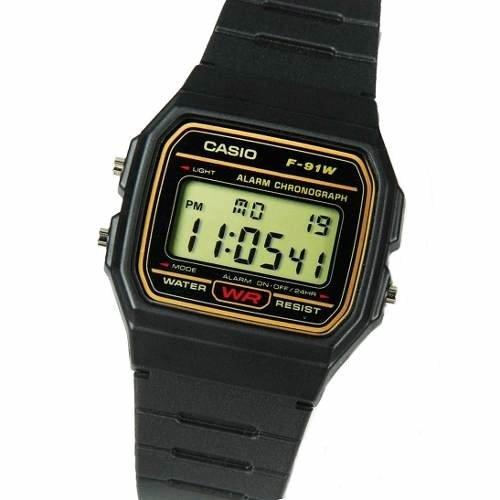 40efb76512cf Reloj Casio F-91wg 9q Crono Alarma Calendario Luz Vintage