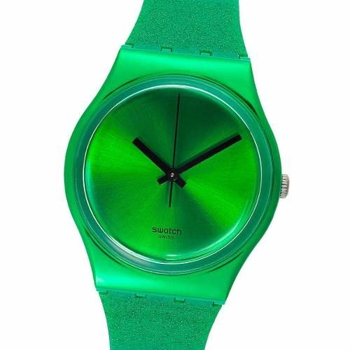 Reloj Swatch Deep Shine Green Gg213 Suizo 30m Wr Brillo