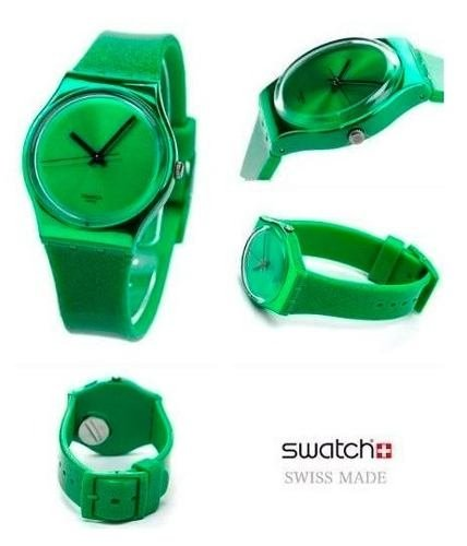 Reloj Swatch Deep Shine Green Gg213 Suizo 30m Wr Brillo en internet
