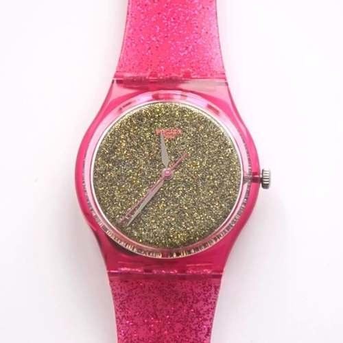 Reloj Swatch Gp149 Nuit Rose 100% Suizo Animal Print en internet
