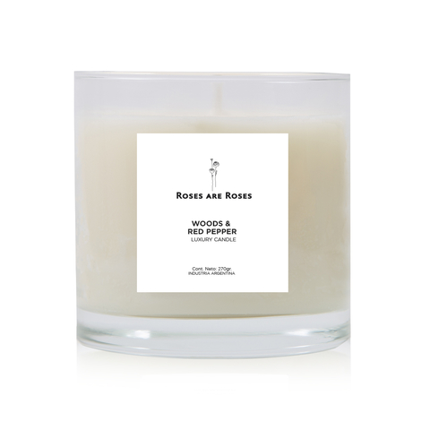 Woods & Red Pepper- Luxury Candle