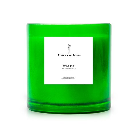 Wild Fig · Luxury Candle ( ENVASE TRANSPARENTE)