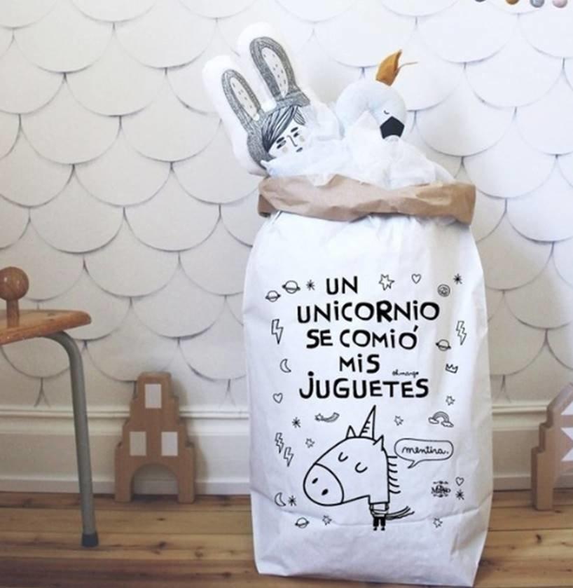 BOLSA DE PAPEL - UN UNICORNIO