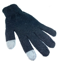 Guantes lisos touch screen color negro