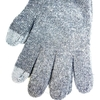 Guantes lisos touch screen color gris