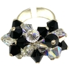 Crystals from swarovski linea racimo color blanco y negro nro. 15,5