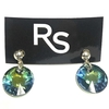 Crystals from swarovski linea sun 11 mm color verde con destellos azules