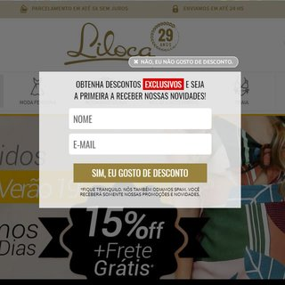 Design de Pop-up para Loja Virtual