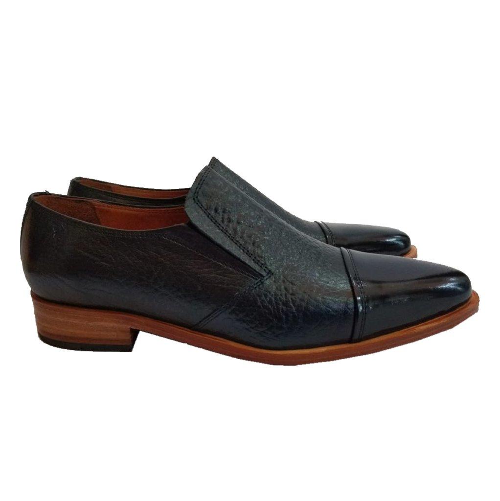 Zapato Negro con Elástico sin Córdon