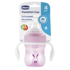 CHICCO VASO TRANSITION CUP ROSA 4M+