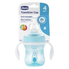 CHICCO VASO TRANSITION CUP  CELESTE 4M+