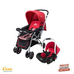 Coche travel system Duck Party Rojo