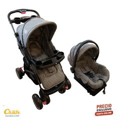 BABYONE COCHE TRAVEL SYSTEM TREND PRO GRIS MELANGE