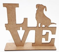 LOVE NA BASE CACHORRO 15X16