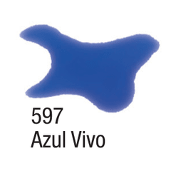 TINTA AQUARELA SILK 60ML. ACRILEX - 597 AZUL VIVO