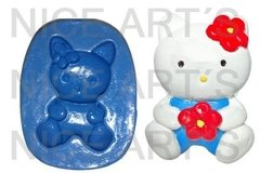 702 HELLO KITTY FLOR (4.5X2.5 CM)