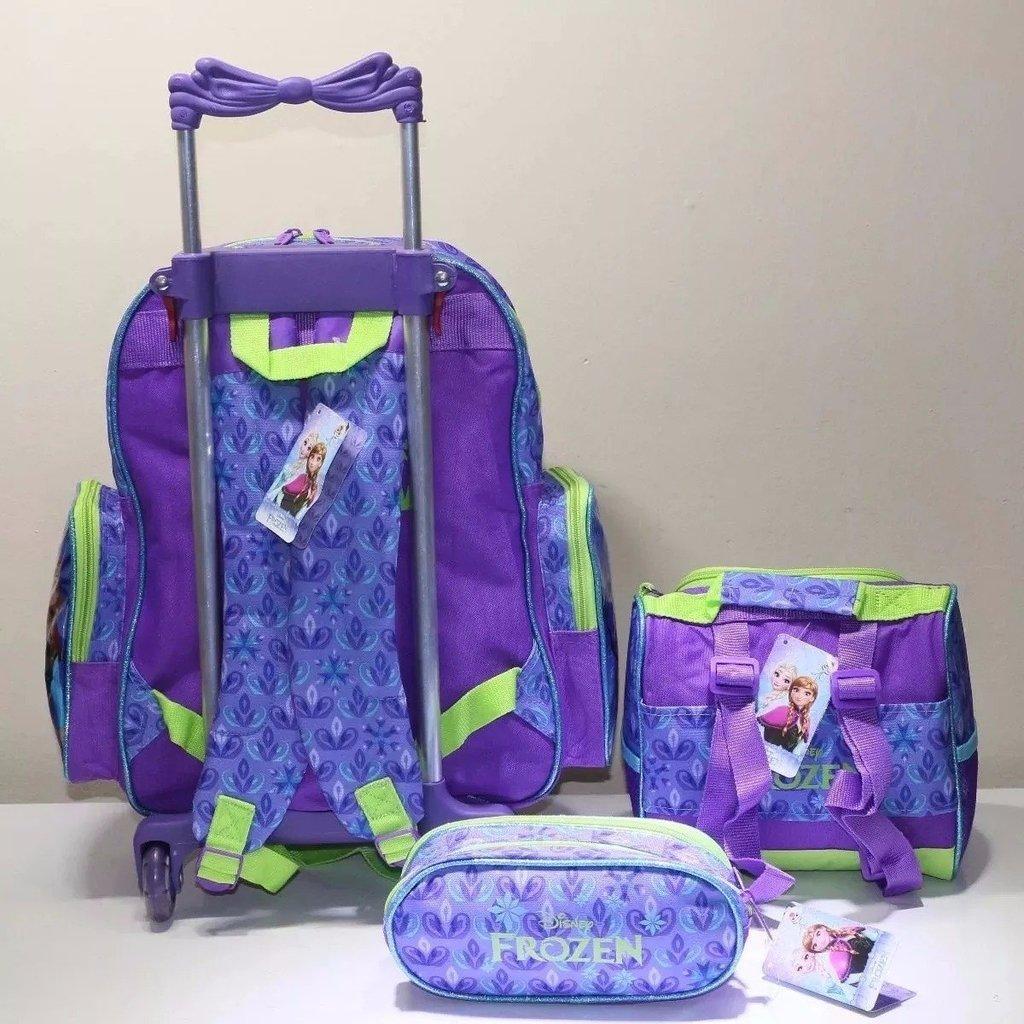 a124f51238 Kit Mochila Escolar Rodinha Frozen Lancheira + Estojo