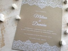 Invitación Simple Rectangular - comprar online