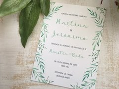 Invitación Simple Rectangular