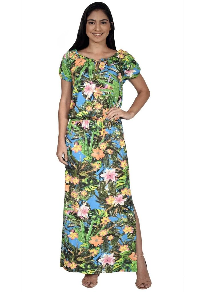 df9c32d76 Vestido Pirony Longo Estampa Floral Ref. 116360