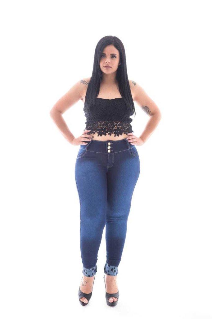 6c33009cc Calça Jeans Feminina Plus Size Skinny | Tramit | Referência 1928