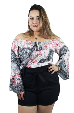 SHORT CLOCHARD PLUS SIZE